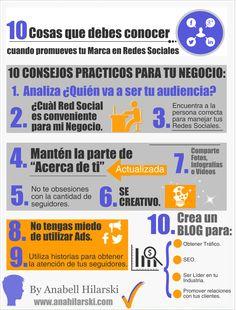 10 Cosas que debes conocer cuando promueves tu Marca en Redes Sociales - @AnabellHilarski #RedesSociales #Panama