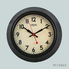 Great looking office clock with a sweeping second hand, featuring the Smiths iconic trademark