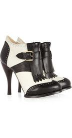 McQ Alexander McQueenTwo-tone leather ankle boots