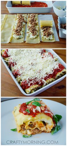 These 3-cheese lasagna rolls up with sausage were AMAZING! I made them for dinner tonight and everyone raved about them!