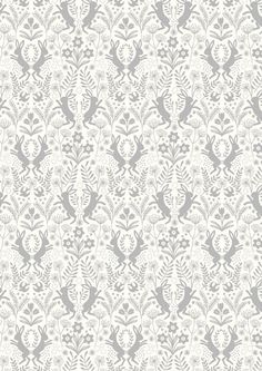 Fat Quarter Little Hares on White Salisbury Spring 100% Cotton Quilting Fabric