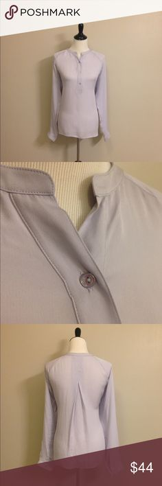 Vince silk top Vince silk top. Light purplish/gray. Great condition! Vince Tops Blouses