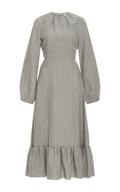 Long Sleeve Midi Dress by J.W. ANDERSON Now Available on Moda Operandi