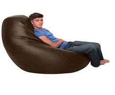 We have a brown leather bean bag to suit everyone, there is one thing for certain, all of them are extremely comfortable, you will not want to move from it Huge Bean Bag, Giant Bean Bags, Cool Bean Bags, Leather Bean Bag, Brown Leather, Bean Bag Chair, Popular, Objects, Most Popular