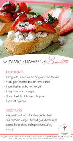 Skinnygirl® Cocktails Insider @Kelly Hunt shared this Balsamic Strawberry Bruschetta with us! This light bite will certainly please any lady. Find more delicious appetizers on the Skinnygirl® Cocktails Guide