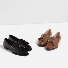 calcas pretas bolinhas brancas zara sapatos pretos verniz