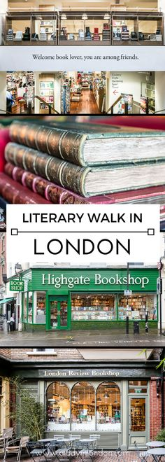 A lovely London literary walk and map, with everything from bookstores to reading rooms. #london #books
