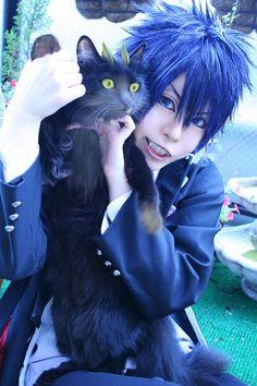 Rin Okumura - Ao No Exorcist (Blue Exorcist) Cosplay Cosplay Anime, Cosplay Boy, Cute Cosplay, Amazing Cosplay, Cosplay Outfits, Cosplay Costumes, Rin Okumura, Anime Angel, Kuro Ao No Exorcist