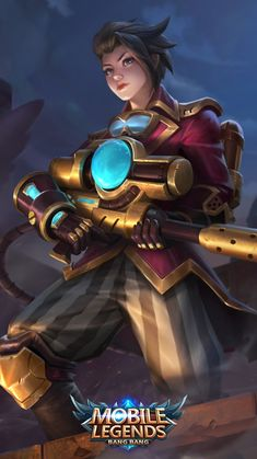 Wallpaper Kimmy Steam Researcher Skin Mobile Legends HD for Mobile Mobile Legend Wallpaper, Hero Wallpaper, Marvel Wallpaper, Iphone Wallpaper, Fantasy Heroes, Fantasy Warrior, Alucard Mobile Legends, Moba Legends, Legend Games