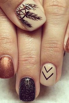 This is why today we found the best fall nail art. We accept begin 33 of the best fall nail art designs of all time. These fall nail art designs are incredible. Bravo to these amazing nail artists who think of these creative ideas. Fall Nail Art Designs, Fall Nail Designs, Nail Polish Designs, Cute Nail Designs, Acrylic Nail Designs, Nails Design, Brown Nail Designs, Fall Pedicure Designs, Gel Polish