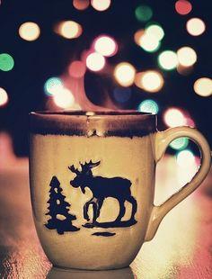 2013 Christmas mug ideas, cute Christmas and reindeer print mug design, DIY Christmas mug, 2013 Christmas table decor