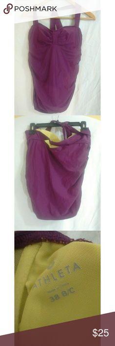 Athleta halter tankini top Athleta halter tankini top. Excellent used condition size 38B/C. Beautiful purple color Athleta Swim