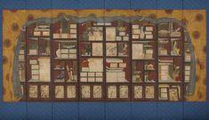 (그림1) 책가도, 장한종(張漢宗, 1768~1815 이후), 18세기 말~19세기 초, 종이에 채색, 8첩 병풍, 361×195cm, 경기도박물관