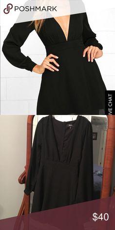 Black dress Long sleeve black dress. Size small Lulu's Dresses Long Sleeve