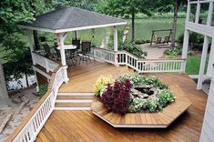 Presssure-treated deck designed and built by Atlanta Decking & Fence. Horizontal Deck Railing, Decking Fence, Deck Railing Design, Laying Decking, Wood Pergola, Deck With Pergola, Deck Railings, Diy Pergola, Deck Design