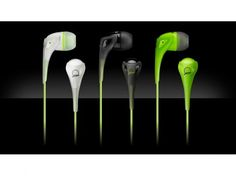 AKG quincy jones earphone.  works well with all Apple products.