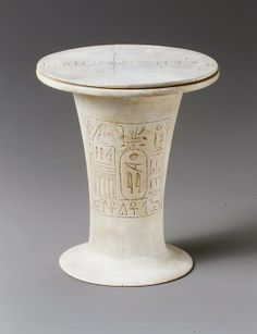 Ointment jar of Pepi I   Period: Old Kingdom Dynasty: Dynasty 6 Reign: reign of Pepi I Date: ca. 2289–2255 B.C. Geography: Country of Origin Egypt Medium: Egyptian alabaster