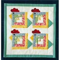 Chicken Strips Miniture Quilt :) LOVE
