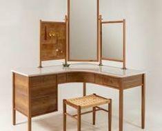 handcrafted bedroom vanity - Google Search Corner Desk, Makeup Vanities, Vanity, Bedroom, Furniture, Google Search, Home Decor, Corner Table, Dressing Tables