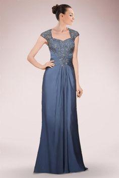 Elegant Floor-length Chiffon Mother of Bride Dress Adorned with Beaded Details