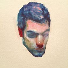 Craig Smith's head #watercolor #painting #portrait #alexthebeck