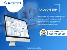 ERP is business management software that allows an organization to manage the business and automate business processes, often in real-time and moderated by software and technology.  For more details, you can visit our website www.AxolonERP.com or call us at our toll-free number ☎ 800296566.  #ERPSoftware #ERPSolution #ERPServices #ERP  #CustomizedERP #Axolon #AxolonERP #BusinessERP #Automation #ERPSoftwareDubai #ERPSolutionDubai #ERPSoftwareUAE #ERPSolutionUAE #ERPSoftwareOman…