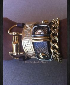 Gold Greek Bracelet by HauteandSoul1 on Etsy, $18.00