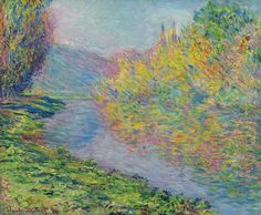 Automne à Jeufosse: 1884 by Claude Monet (Private Collection - Sold at Auction, Sotheby's) - Impressionism