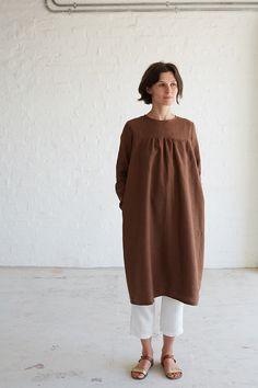 Linen Smock Dress Tutorial