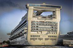 Star Princess Cruise Ship at Victoria Harbour - Victoria BC Canada