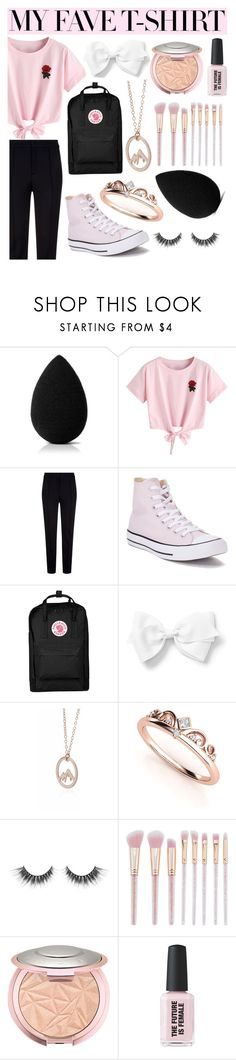 """My Fave T-Shirt"" by angelinapurplerose ❤ liked on Polyvore featuring beautyblender, WithChic, Escada Sport, Converse and Fjällräven"