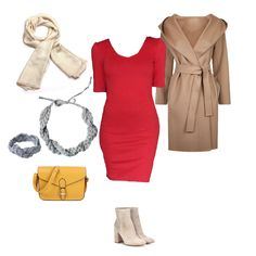 Tipp, hogyan viseld a piros ruhát. Idea for wearing the red dress. Scarlett Dresses, Dress Red, Winter, Board, Casual, Tips, Clothing, How To Wear, Outfits