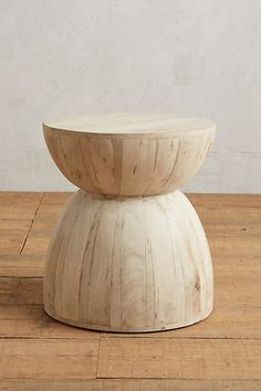 "Betania Side Table, Hourglass - anthropologie.com $398 22""H, 20"" diameter"