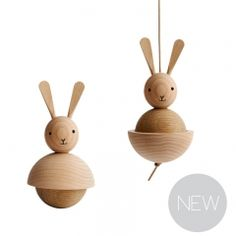 Wooden rabbits by OYOY
