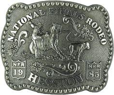 1985 Hesston National Finals Rodeo Novelty Belt Buckle National Finals Rodeo, Cowboy Belt Buckles, Best Deals Online, Cowboys, Classic, Silver, Derby, Classic Books, Money