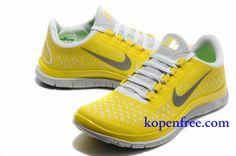 Kopen goedkoop Schoenen heren nike free 3.0 v4 (kleur:vamp-geel,wit;binnen-wit;logo,tong-grijs) online in nederland.