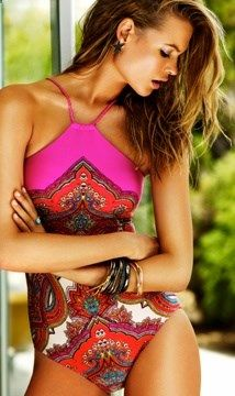 love the one piece!  #swimsuit #beach #fashion