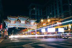 Washington DC Chinatown Long Exposure at Night