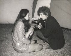 Bob Dylan and Joan Baez at the Newport Folk Festival, 1964
