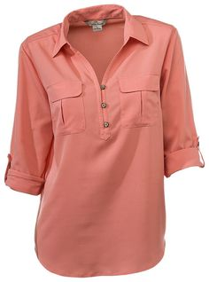 Buy the Bob Timberlake Roll-Tab Sleeve Blouse for Ladies and more quality Fishing, Hunting and Outdoor gear at Bass Pro Shops. Blouse Styles, Blouse Designs, Fancy Dress Design, Casual Dresses, Casual Outfits, Sewing Blouses, Latest African Fashion Dresses, Blouses For Women, Casual Shirts