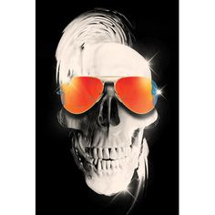 """East Urban Home Summer Skull Graphic Art on Wrapped Canvas Size: 18"""" H x 12"""" W x 1.5"""" D"""