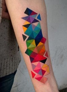 Nastia Zlotin abstract tattoo