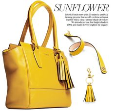 Love it!!  Coach Legacy Collection in Sunflower Yellow  coach.com