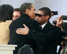 Pin for Later: President Obama's A-List Acquaintances In January President Obama gave Usher a hug during his inaugural celebration in Washington DC. Mr Obama, Barack Obama Family, Malia Obama, Black Presidents, American Presidents, American Soldiers, American History, British History, 4th Of July