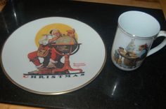 Vintage GORMAN 1982 and 1978 NORMAN ROCKWELL Museum Cup Mug and Plate set   | eBay
