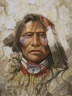 Native american art from Mark Rohrig and Kirby Sattler on . Native American Face Paint, Native American Warrior, Native American Paintings, Native American Wisdom, Native American Pictures, Native American Women, Native American Artists, American Indian Art, Native American History