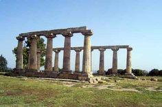 Temple of Hera at Metapontum. (Italy)