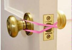 No more panicked parents worrying  about baby locked in the bathroom, this little trick will set your mind at ease.