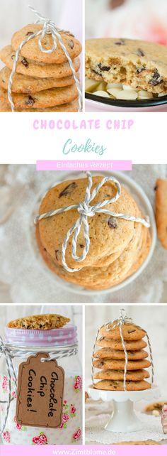 Knusprige Chocolate Chip Cookies via @DieZimtblume
