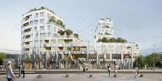 MVRDV designs rennes residential complex with façades that reference rock formations